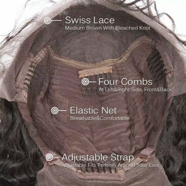 """Ley - 4"""" Lace Front Brazilian Human Hair Wig"""