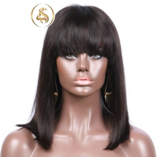 Kathy - 360 Lace Frontal Human Hair Wigs With Bang