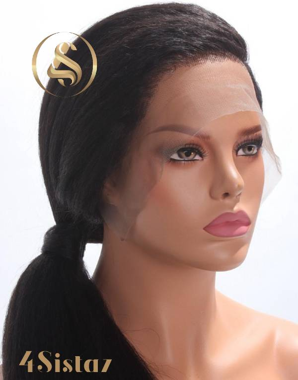 Lily - HD Transparent Lace Kinky Straight Full Lace Human Hair Wig