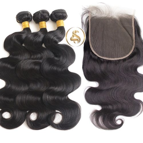 Body Wave Human Hair 3Bundles with Closure